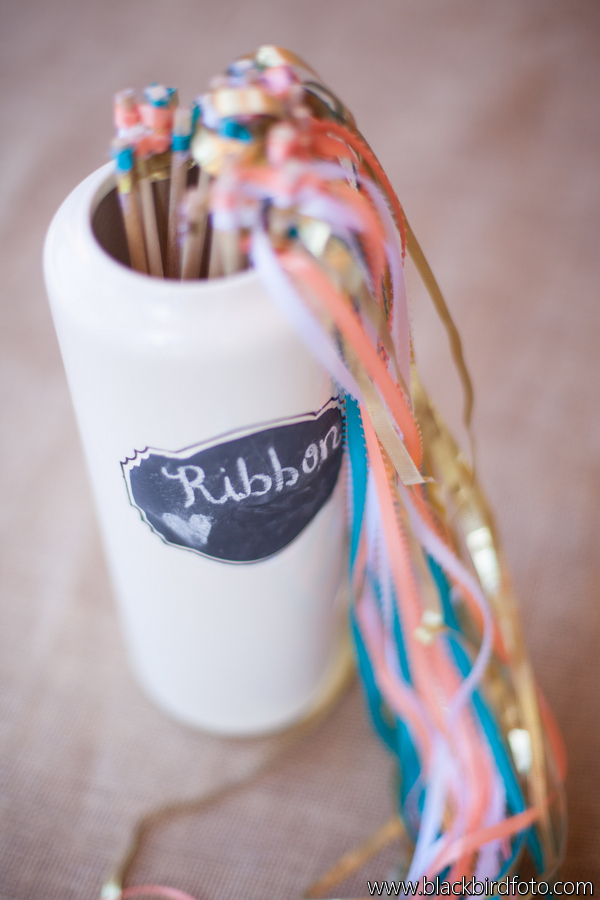 Lovely Details: Coral and Aqua Ribbon Wands