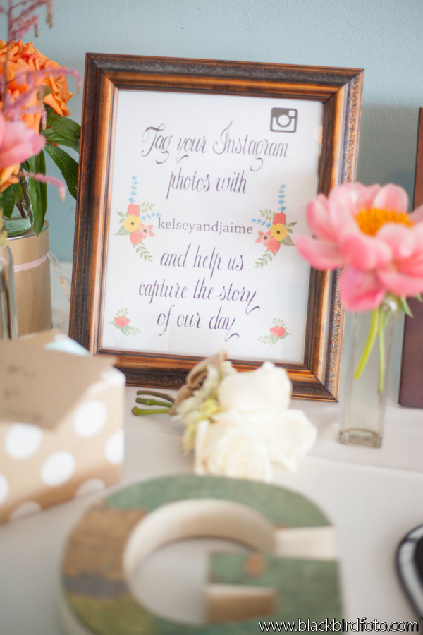 Floral Sign Instagram via Wedding Chicks with Peonies and Roses