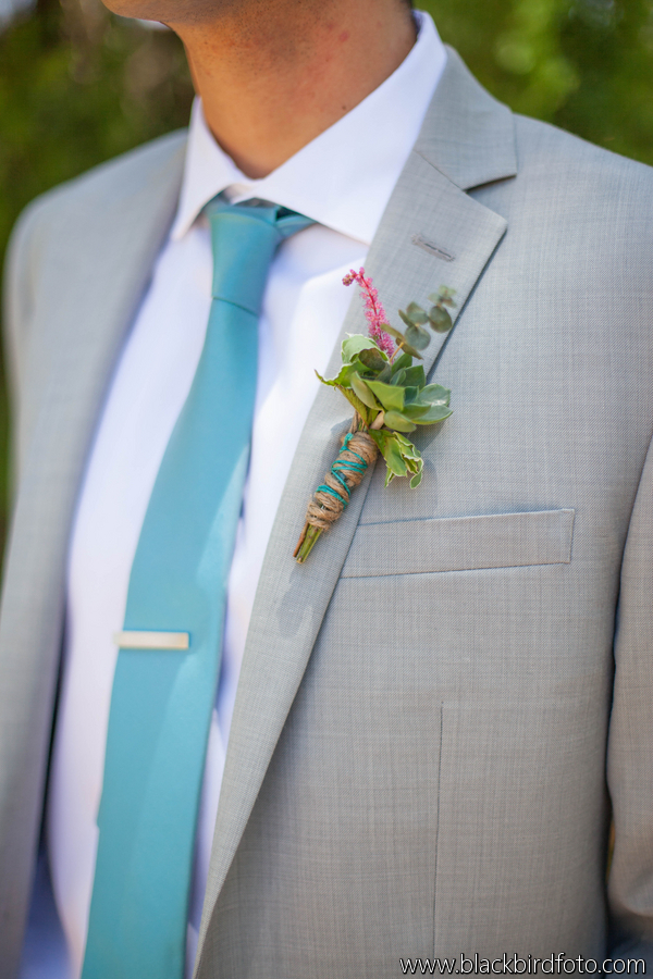 Lovely Details: Succulent Grooms Boutonniere by Ever After Floral Design