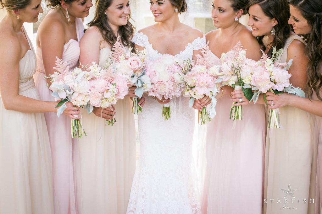 Blush And Champagne Glamorous Wedding